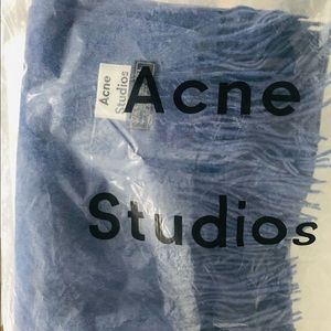 Brand New Acne BBBig 100% Virgin Wool Scarf Blue